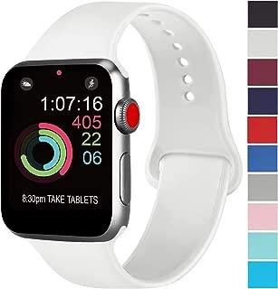 ATUP コンパチブル Apple Watch バンド 42mm 38mm 44mm 40mm、プレミアムソフトシリコン交換リストバンドiWatch Series 5/4/3/2/1に対応、iWatchは含まれていません