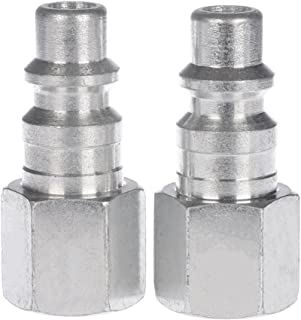 WYNNsky Air Hose Quick Connector 1//4NPT I//M Type Air Push on and Lock Plug with 3//8 Hose Barb 10 Piece Air Hose Fittings Set