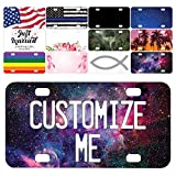 make your own license plate - Be Burgundy Custom License Plate for Cars - 12 x 6 inches - Your Text Here, Aluminum Novelty License Plates - Galaxy