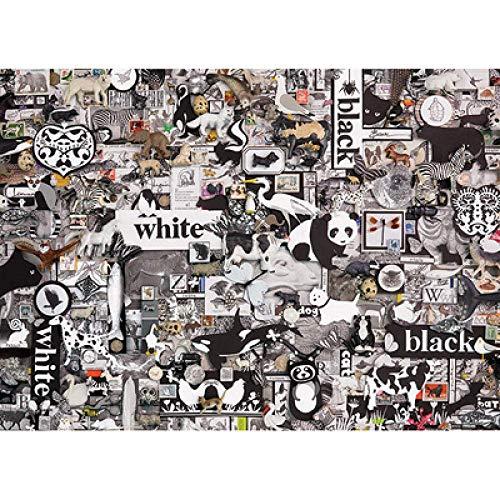 znwrr Schwarz-Weiß-Panda-Poster-Puzzle 1000 Stück, Papier-Puzzle, Kinder-Erwachsenen-Puzzle Dekompression Spielzeug-Puzzle-Gemälde 38x26 cm