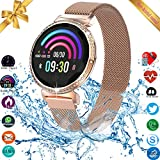 Smart Watch, Fitness Tracker, Smart Watch for Android Phones iOS, Activity Tracker, Fitness Tracker for Women, Android Watch for Women with Heart Rate Blood Pressure Sleep Monitor Touch Screen