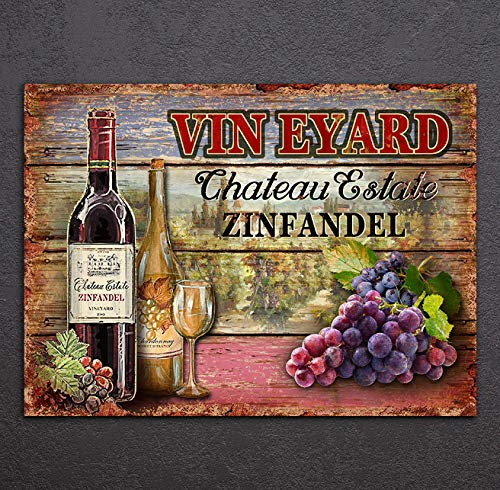 Impresión HD lienzo pintura arte mural Vintage bodega decoración de pared vino bebida cartel 60X90Cm sin marco