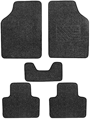 Semaphore Customisable Non Slip 4-Piece Full Set Ridged Heavy Duty PVC Carpet Floor Mat & 1 Piece of Car Dashboard No...