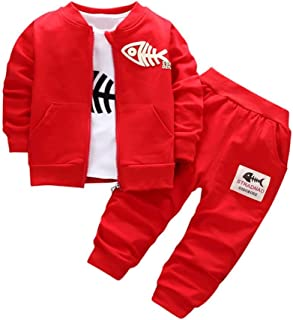 Ropa Bebé Ropa niño Otoño Invierno, niños Conjunto Abrigo + Camisa + Pantalones 6 Mes - 3 Años