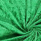 Fabulous Fabrics Pannesamt grasgrün – Weicher SAMT Stoff