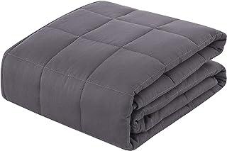 TolleTour Gewichtsdecke aus 100% Baumwolle, Schwere Decke Anti Stress, Beschwerte Decke Grau, Therapiedecke, Weighted Blanket für Erwachsene und Kinder, 8kg 150 x 200 cm