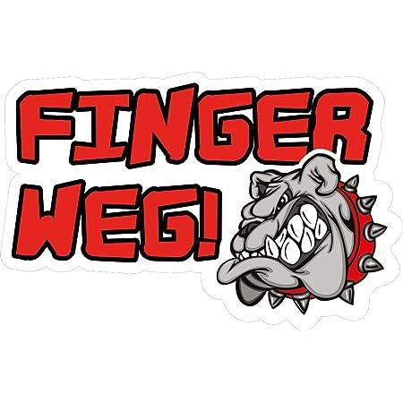 Folien Zentrum 2x Finger Weg Meins Aufkleber Shocker Hand Auto Jdm Tuning Dub Decal Stickerbomb Bombing Sticker Illest Dapper Fun Oldschool Auto
