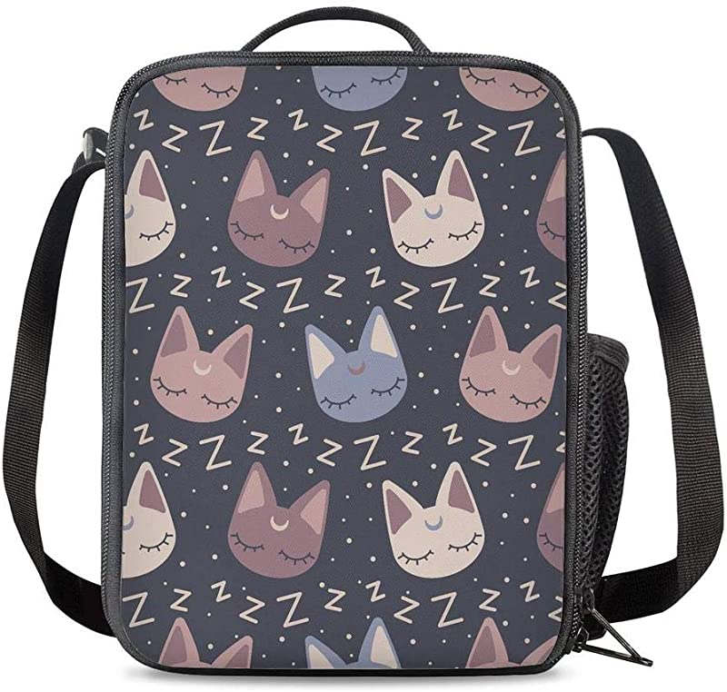 PrelerDIY Sailor Moon Insulated Lunch Bag Cooler Thermal Lunch Boxes Snack Bag Food Container For School Beach Picnic