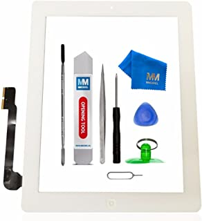 MMOBIEL Digitizer Repair Kit Compatible with iPad 3 (White) Touch Screen Front Display Assembly Incl Home Button Flex Came...