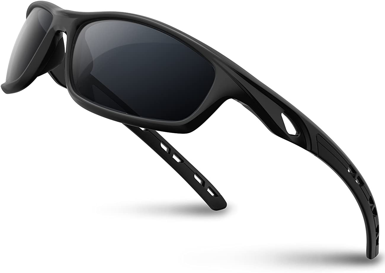 RIVBOS Polarized Sports Sunglasses for Women Men Driving shades Cycling Running Rb833