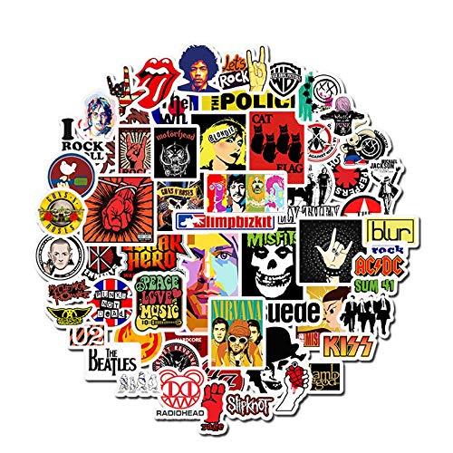 50pcs Aufkleber Hip Hop Rock & Roll Band Zeichentrickfigur Graffiti Aufkleber Spielzeug für Skateboard Laptop Fahrrad wasserdichte Abziehbilder