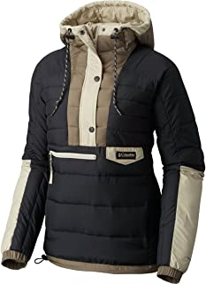 Columbia PNW Norwester Anorak Hooded Insulated Jacket - Womens' - Womens' Black/Chaparral, XL