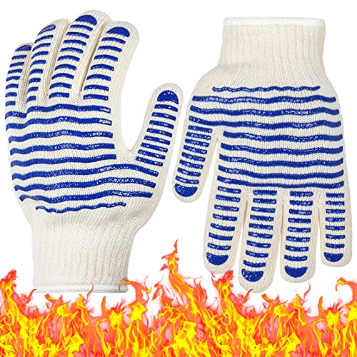 DANIA&DEAN BBQ Gloves, 932F Extreme Heat Resistant Grilling Gloves