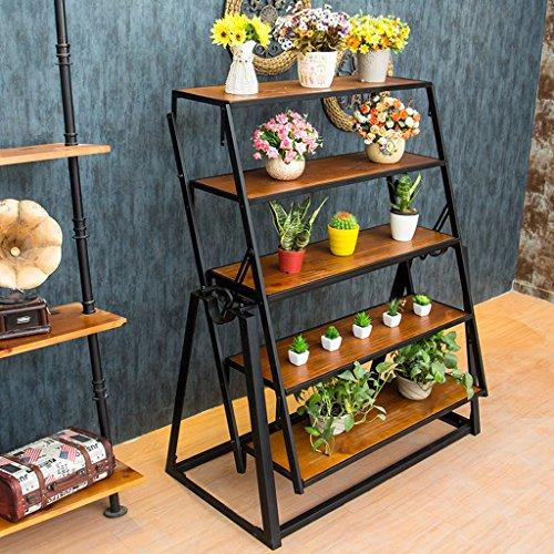 JM Fer à repasser Art Vintage Bois Multifonctions Déformation Cuisine Table Pliante Stand de Fleur (taille : 100 * 60 * 75cm)