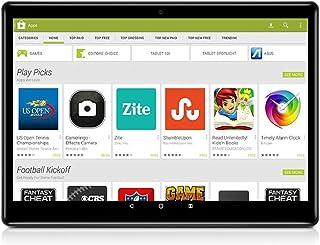 "Android 8.1 Tablet 10 Inch (10.1""),Octa Core,3G 4G Dual SIM Phablet Tablets PC,Dual Camera,4GB Ram+64GB Disk,WiFi,GPS,OTG (Black)"