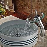Grifo de cocina de una sola palanca con ducha extraíble Grifo de cocina giratorio de 360 grados rociador tocador de baño grifo de cascada de vidrio grifos de grifo de agua fría y caliente