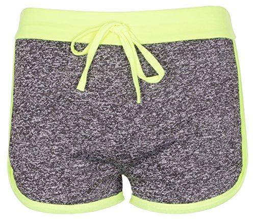 NOROZE Mädchen Gymnastik Flecken Hot Pants Sportbekleidung Shorts Kurze Hose (5-6, Limette)
