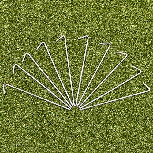 FORZA Picchetti per Reti per Porte di Calcio (Confezione da 20) | Acciaio Resistente Spesso 5 mm - Picchetti Resistenti per Fissare Le Reti