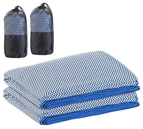 PEARL Saunatuch: 2er-Set schnelltrocknendes, leichtes Bambus-Handtuch, 200 x 80 cm (Freizeit-Handtuch)