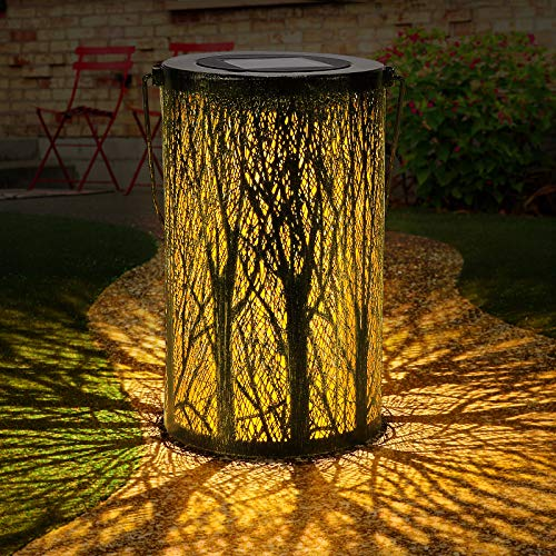 Luces de linterna solar, Tencoz Luces solares para exteriores para atmósfera decorativa Linterna de jardín colgante para patio, fiestas, pasarela Jardín LED impermeable(Tape-6)