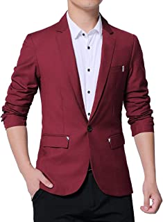 Mens Blazer Single Breasted Tuxedo Jacket Slim Fit Business Suit Jackets Goosun Slim Fit One Button Solid Business Jacket ...