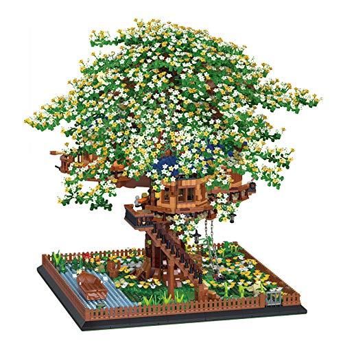 MAZOZ Bloques de construcción para casa de árbol, construcción modular 4953, bloques de construcción para arquitectura, modelo de bloques de construcción, juguete de construcción compatible con Lego