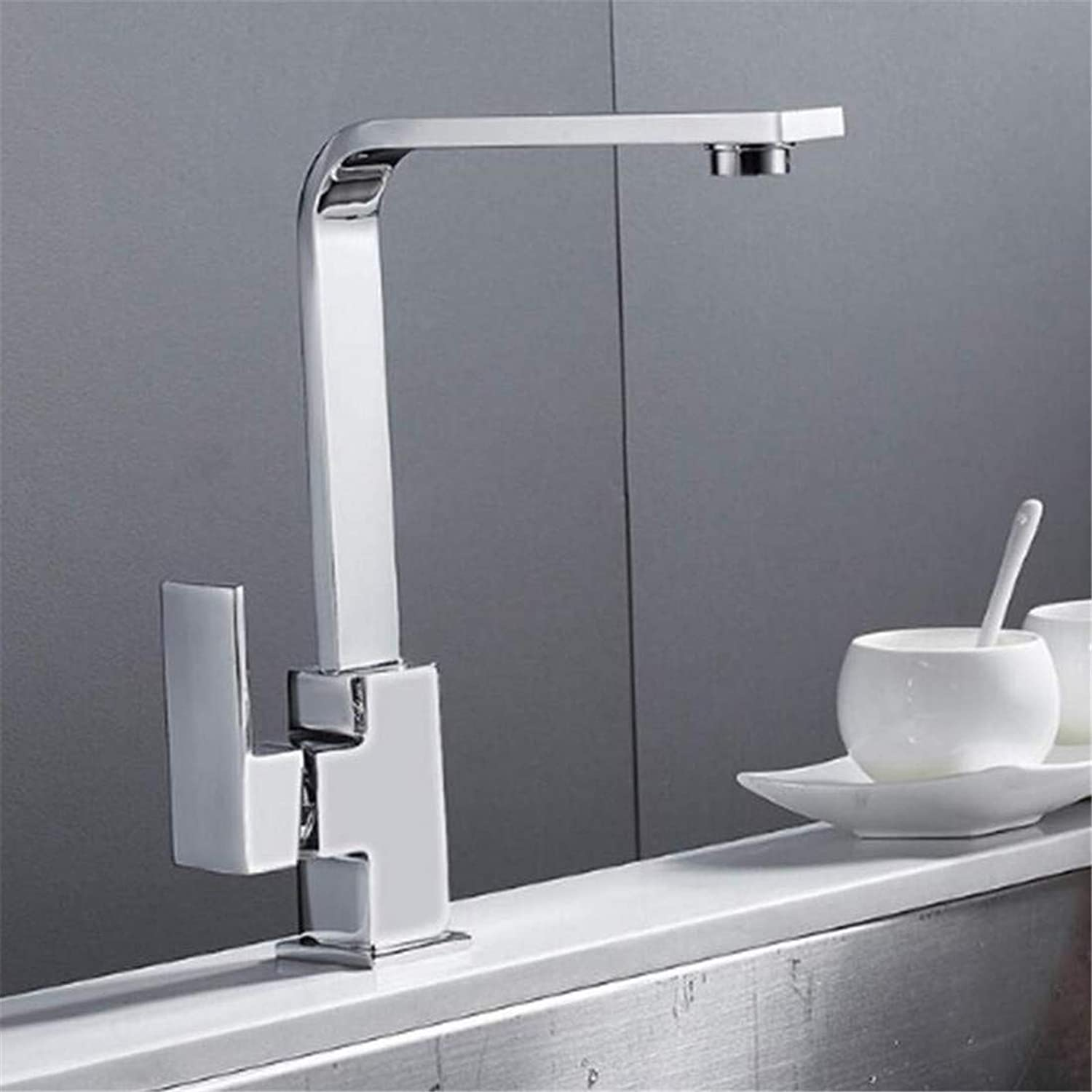 Hot and Cold Water Brass Chrome Chrome Chrome Kitchen Tap Pull Out Kitchen Faucet Sink Mono Group Single Lever redary Spout Mixer Faucet Brass 6bbdb7