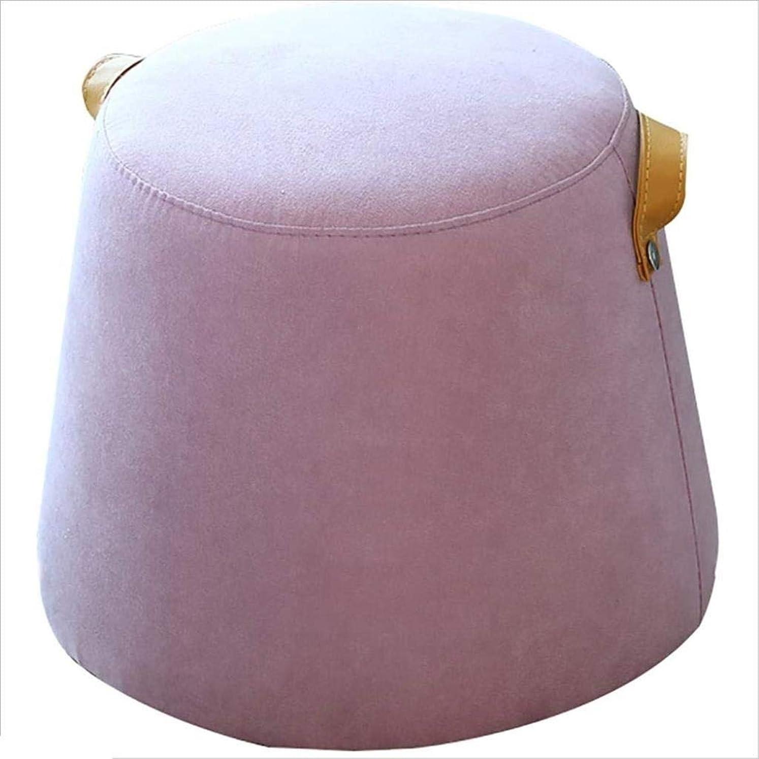 レース生命体テーマ小さい座席生地のソファーのベンチ、創造的なビロードの靴のベンチのかわいい小さいベンチの居間/オフィス/ラウンジ(青) (Color : ピンク)