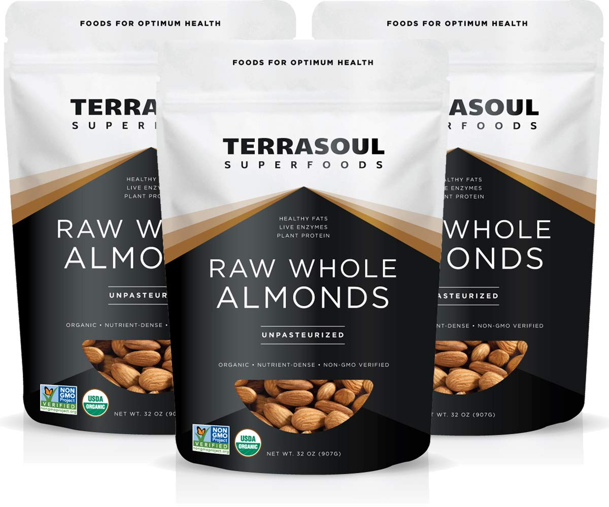 Terrasoul Bombing free shipping Superfoods Raw Over item handling ☆ Unpasteurized Organic Lbs 6 Almonds 3