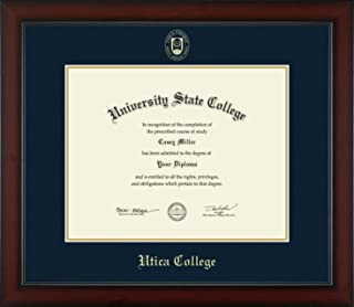 Utica College - Officially Licensed - Masters/PhD- Gold Embossed Diploma Frame - Diploma Size 14
