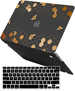 MacBook Pro 13 inch Case,iCasso Rubber Coated Hard Shell Plastic Protective Case Cover for Apple Laptop MacBook Pro 13 Inch with CD-ROM Drive Model A1278 with Keyboard Cover (Honeycomb)