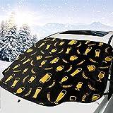 Hiram Cotton Car Sunshade Osos Y Trigo Parabrisas del Coche Parabrisas Cubierta De Protección Solar...