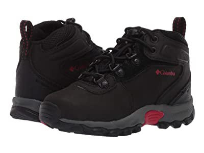 Columbia Kids Newton Ridge Waterproof (Toddler/Little Kid) (Black/Mountain Red) Kids Shoes