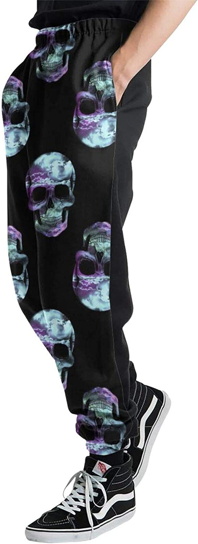 Jiulong OFFicial shop X-Ray Skulls Quantity limited Mens Sweatpants Jogger Athletic Trousers Sp