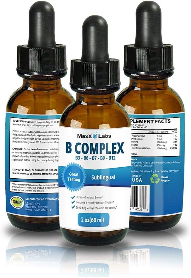 San Francisco Mall New B Complex Liquid B12 Sublingual Healthy Best for - H Vitamin Excellent