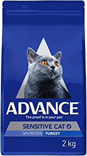 Advance Sensitive Cat Dry Food, Adult and Senior, 2kg