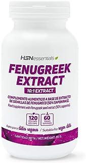 Fenogreco (Trigonella foenum-graecum) de HSN Essentials | 500mg | Alholva, 50% Saponinas, Aumenta la Testosterona, Apoyo Lactancia, Vegano, Sin Gluten, Sin Lactosa, 120 cápsulas