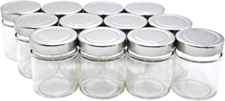 U-Pack 12 pieces of 5oz Glass Spice Bottles Spice Jars with Silver Metal Lids by U-Pack