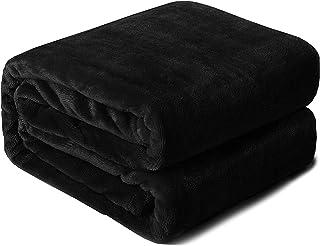 EIUE Fleece Blanket for Twin Size Bed,Ultra Soft Black...