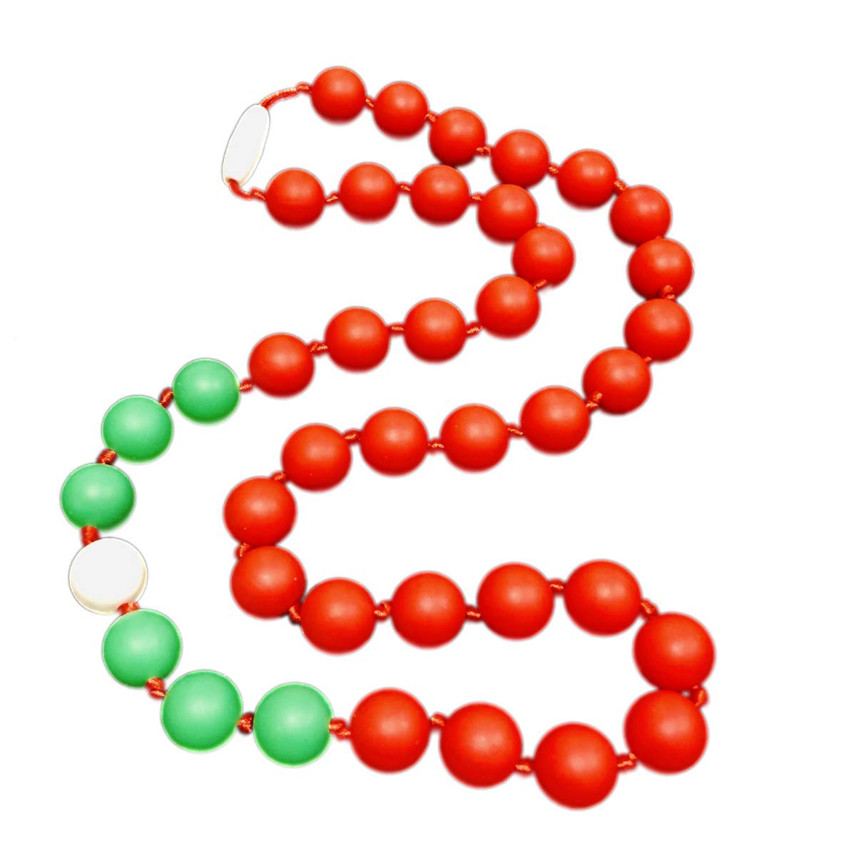 Holiday Party Teething Necklace Holiday Party - Red, Green, White