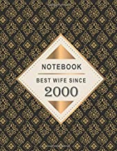 Notebook - Best Wife Since 2000: 19th Wedding Anniversary Gift for Her - Nineteen year Wedding Anniversary Gift for Wife Couple Married in 2000 ( 8.5 x 11 inches - 108 Pages )