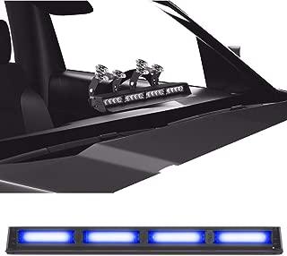 SpeedTech Lights Striker TIR 4 Head High Intensity LED Strobe Deck/Dash Windshield Mount Light Bar for Emergency Vehicles/Hazard Flashing Warning Lights with Cigarette Lighter Plug - Blue/Blue