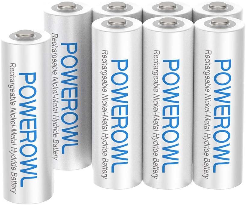 Amazon Com Aaa Rechargeable Batteries Powerowl Rechargeable Aaa Batteries 1000mah High Capacity 1 2v Nimh Low Self Discharge Rechargeable Aaa Battery 8 Pack Electronics