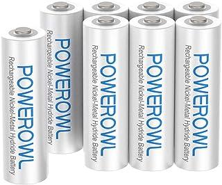 POWEROWL AAA Rechargeable Batteries, POWEROWL Rechargeable AAA Batteries 1000mAh High Capacity 1.2V NiMH Low Self Discharg...
