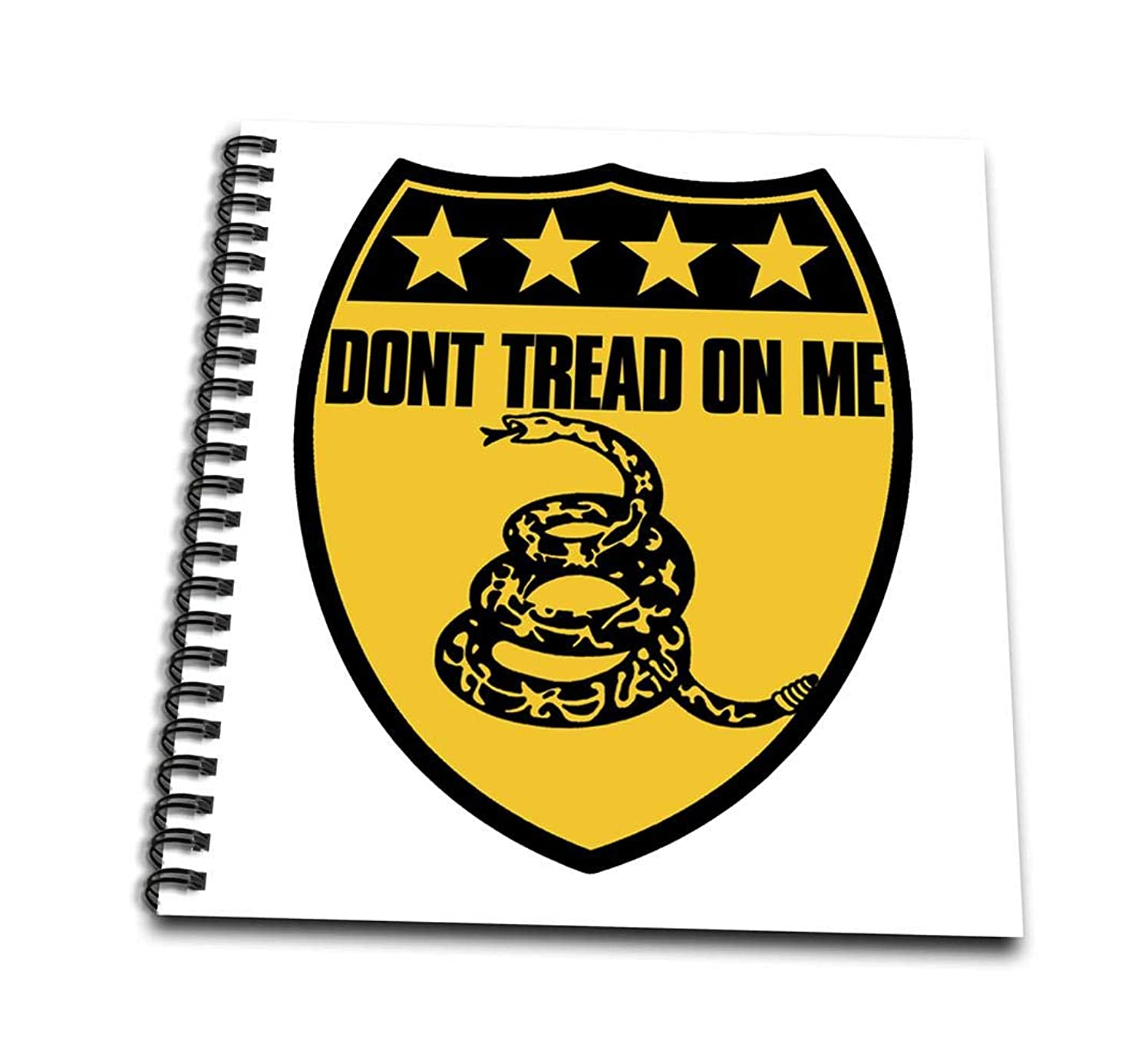 3dRose db_193478_1 Don't Tread on Me-Drawing Book, 8 by 8-Inch