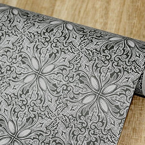 Yifely Vintage Petal Countertop Covering Paper Self-Adhesive Shelf Liner Coffee Table Decor 17.7 Inch by 9.8 Feet