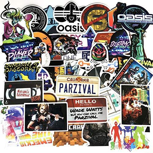 Wawale stickers voor spelers, nummer UN, personaliseerbaar, voor krassen, cartoon voor scooters (57 afbeeldingen)