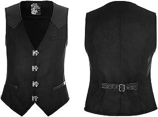 Punk Rave Men's Gothic Steampunk Party Waistcoat Punk Rock Motocycle Vest Men Evening Party Formal Vest