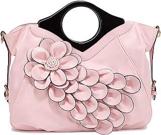 Trendy Lady Flower Bag Ethnic Style Handbag Solid Color Flower Shoulder Bag Zgywmz (Color : Pink, Size : 40 * 14 * 34cm)