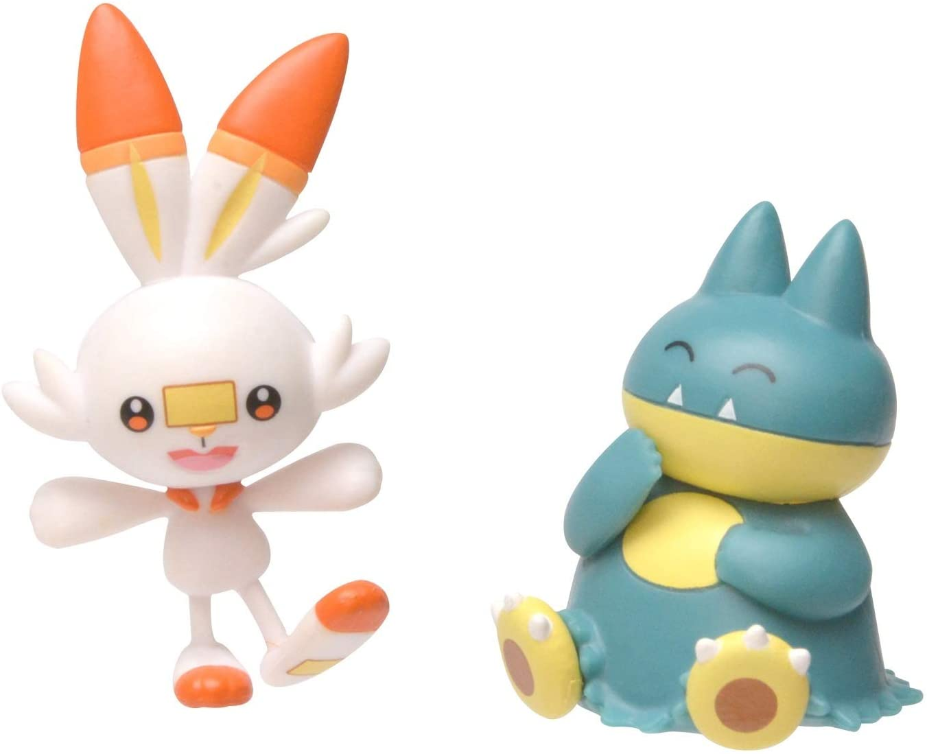 Pokemon New Sword and Shield Battle Action Figure 2 Pack Munchlax & Scorbunny